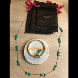 Kate Spade Earrings, bracelet and necklace combo